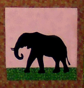 African Safari Hippo Applique Pattern